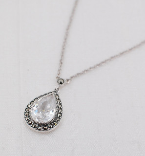 CZ Teardrop Necklace