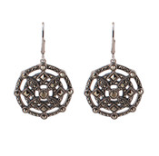 Marcasite Medallion Earrings