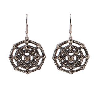 Marcasite Medallion Earrings