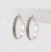 Marcasite Hoop Earrings