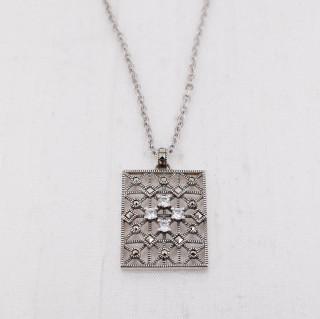 Cubic Zircona & Marcasite Pendant Necklace