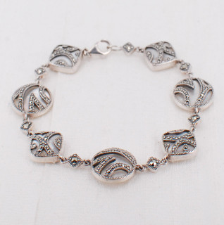 Mother-of-Pearl & Marcasite Bracelet