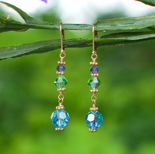 Crystal Dangle Earrings in 18k Gold Vermeil Serenity