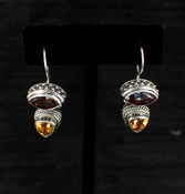 Azotic Topaz &amp; Canary Topaz Earrings