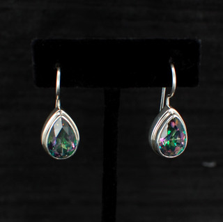 Mystic Topaz Large Teardrop Earrings