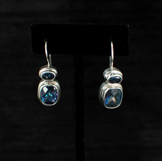 Neptune Topaz Two-Stone Earrings