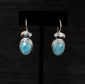 Neptune Topaz & Aquamarine Earrings