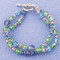 Double Bracelet shown in Sterling Silver Serenity - Sapphire, Tanzanite, Peridot & Aquamarine Swarovski crystals.