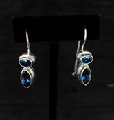 Azotic Blue Topaz Marquis &amp; Oval Earrings