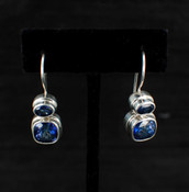 Azotic Blue Topaz Cushion &amp; Oval Earrings