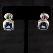 Mystic & Blue Passion Topaz Cushion Post Earrings