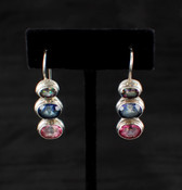 Pink, Blue & Mystic Topaz Earrings