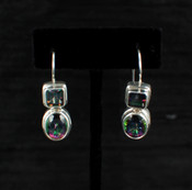 Mystic Topaz Oval & Princess Post Earrings