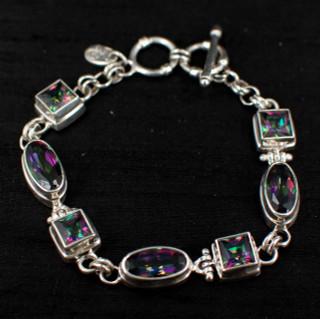 Mystic Topaz Princess & Oval Bracelet