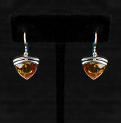 Citrine Trillion Earrings
