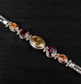 Citrine, Garnet & Twilight Topaz Bracelet