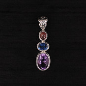 Amethyst, Blue Passion Topaz &amp; Tourmaline Pendant