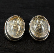 Rutilated Quartz Post Earrings