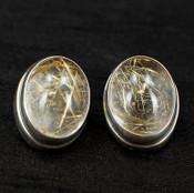 Rutilated Quartz Post Earrings