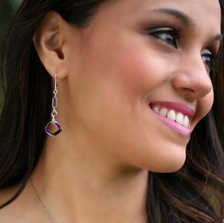 Cosmic Square Ring Earrings