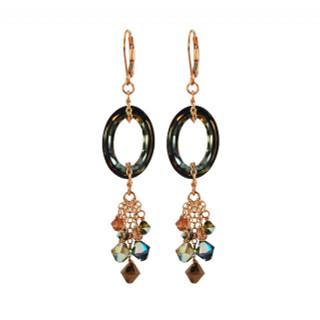 Cosmic Crystal Tabac Earrings