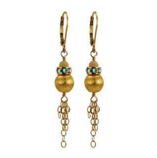 Brushed Gold Chain Earrings