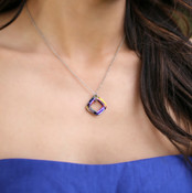 Cosmic Square Ring Necklace