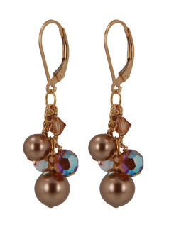 Rosewood Cluster Earrings