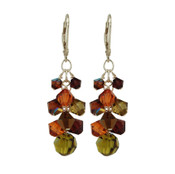 Adobe Crystal Cluster Earrings