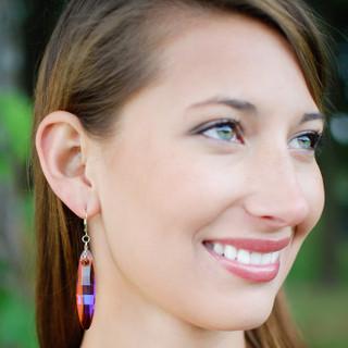 Ellipse Earrings in 18K Gold Vermeil Astral Pink