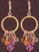 Ring Cluster Earrings in 18k Gold Vermeil Cabrina