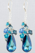 Teardrop Cluster Earrings in Ice