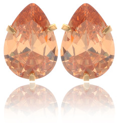 Tear Drop Crystal Stud Earrings