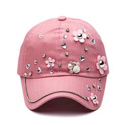 Pink Daisy Crystal Cap
