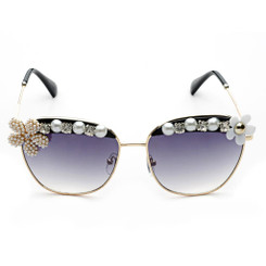 Pearl Flower Oversized Sunglasses