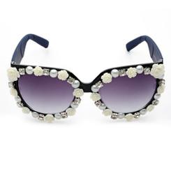 Roses, Pearls & Crystal Sunglasses