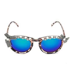 Bow Leopard Print Sunglasses