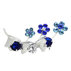 Neoglory Sparkling Crystals Flowers/Branches Brooch