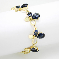 Neoglory Charming Linked Butterflies Bracelet