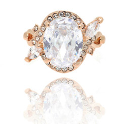 Neoglory Glittering Clear Crystals Infinity Ring