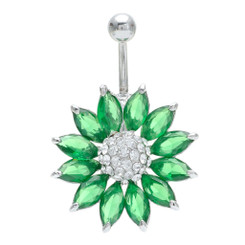 Crystal Sunflower Belly Bar