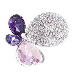 Neoglory Adorable Shinning Crystals Hearty Butterfly Brooch