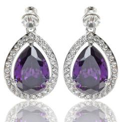 Neoglory Exquisite Zircons/Crystals Doprplet Earrings
