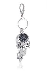 Silver Skull Head Keyring
