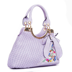 Crystal Bow Featured Hand Bag