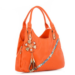 Flower And Tassel Detailed Handbag