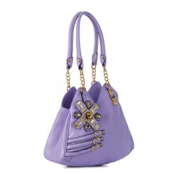Exotic Leather Flower Handbag
