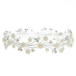 Floral Pearl & Crystal Headband Tiara