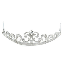 Small Baroque Style Crystal Tiara
