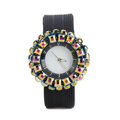 Round Gem Wrist Watch